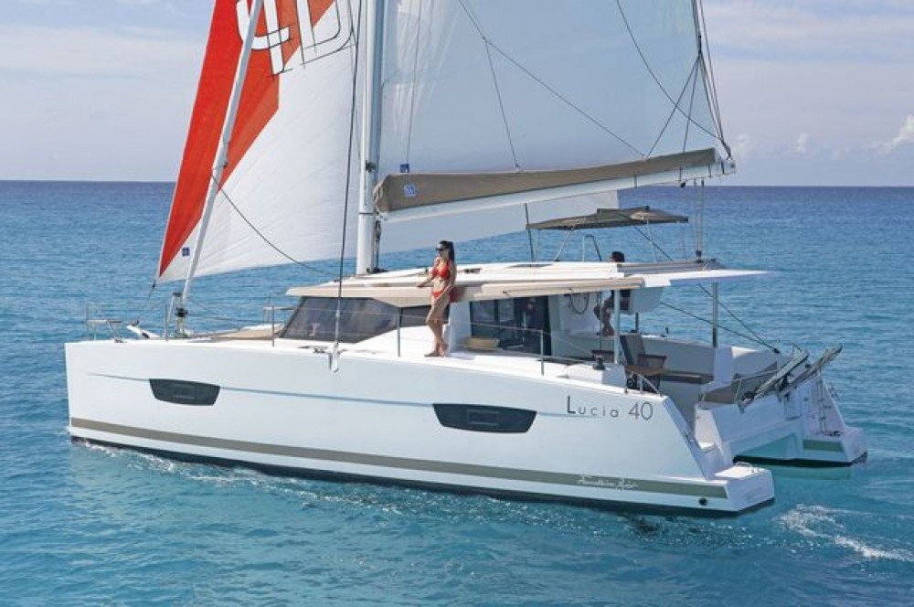 Fountaine Pajot Lucia 40 between personal and professional Aegean
