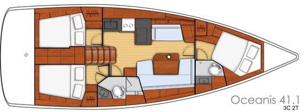 Boat rental Bénéteau Oceanis 411 in Peloponnese, West Greece and Ionian Sea on Samboat