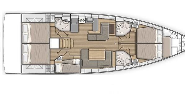 Boat rental Municipal Unit of Apollonioi cheap Oceanis 51.1