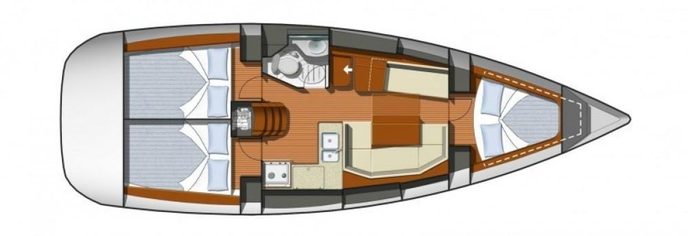 Boat rental Corfu cheap Sun Odyssey 36i