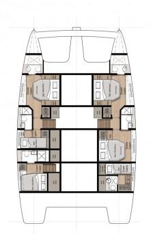 Rental Catamaran in Seget Donji - Sunreef Sunreef 50 - 5 + 1 cab.