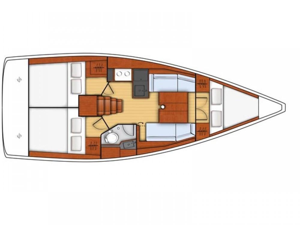 Rental Sailboat in Port Olímpic - Bénéteau Oceanis 35.1