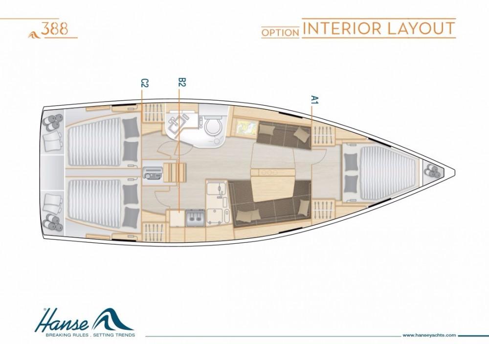 Rental Sailboat in Kalafationes - Hanse Hanse 388