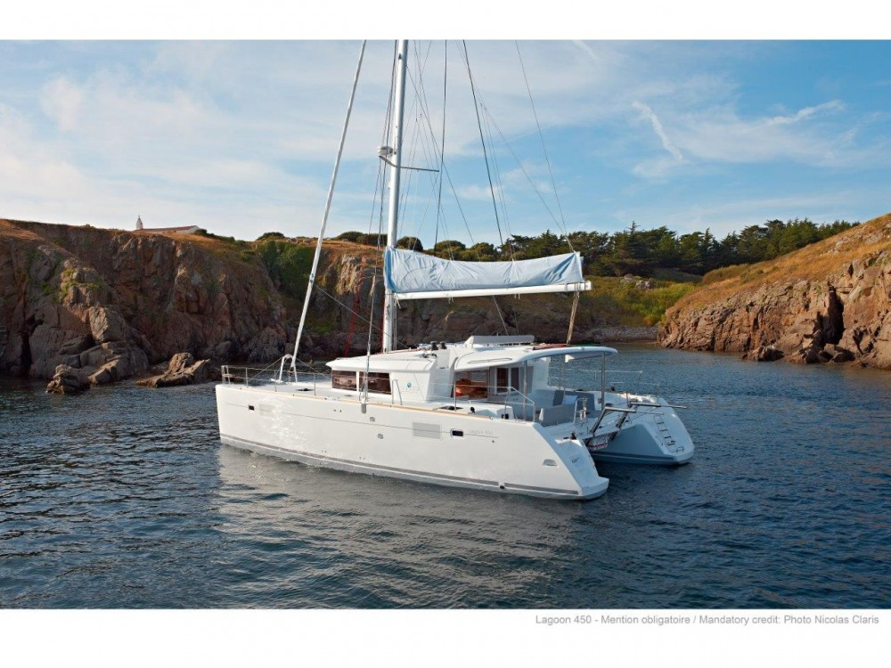 Rental yacht Slano - Lagoon Lagoon 450 F (2019) ANJA equipped with generator, A/C (saloon+cabins), water maker, washer/dryer, dishwasher, microwave oven on SamBoat
