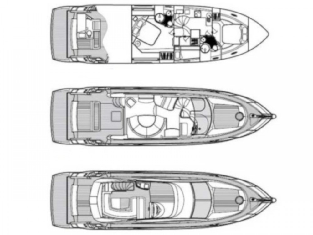 Boat rental Sunseeker Sunseeker Manhattan 50 in Sukošan on Samboat