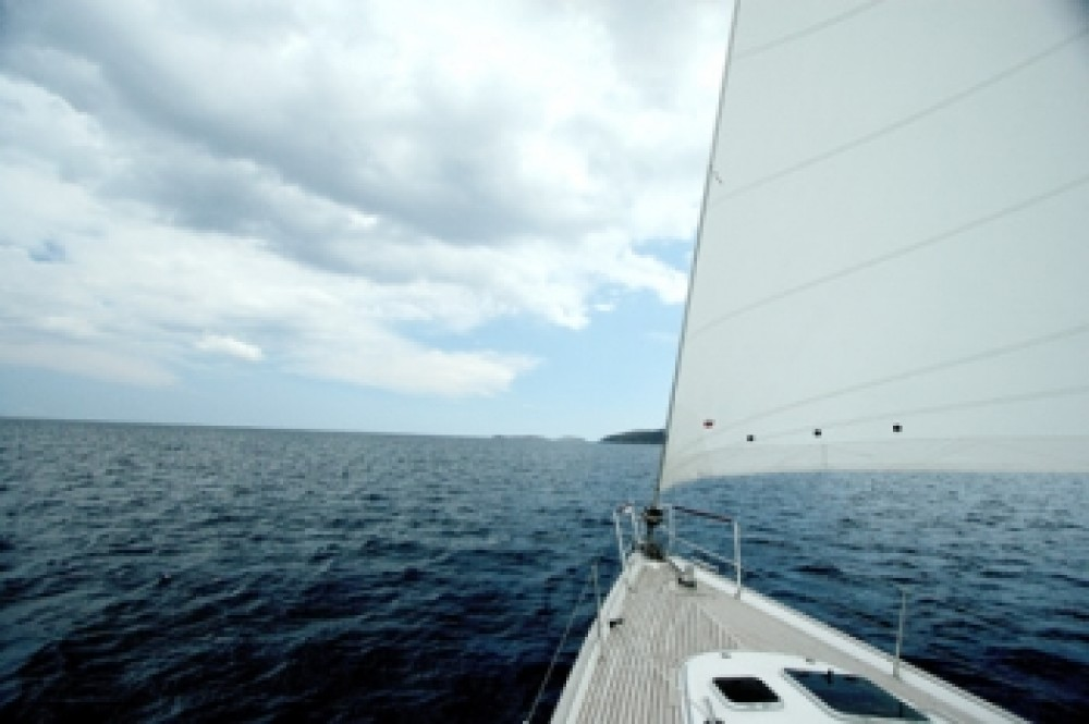 Oceanis 523 between personal and professional Peloponnese, West Greece and Ionian Sea