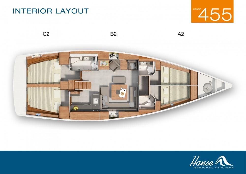 Rental Sailboat in Aegean - Hanse Hanse 445