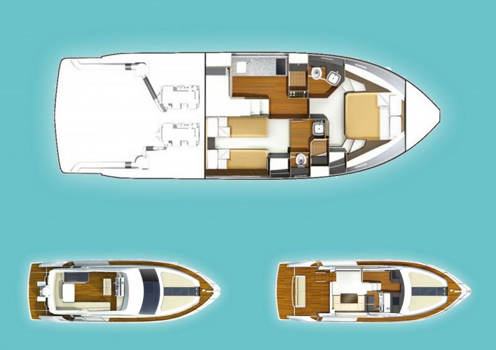 Rental yacht  - Fairlane Fairline Squadron 42 on SamBoat