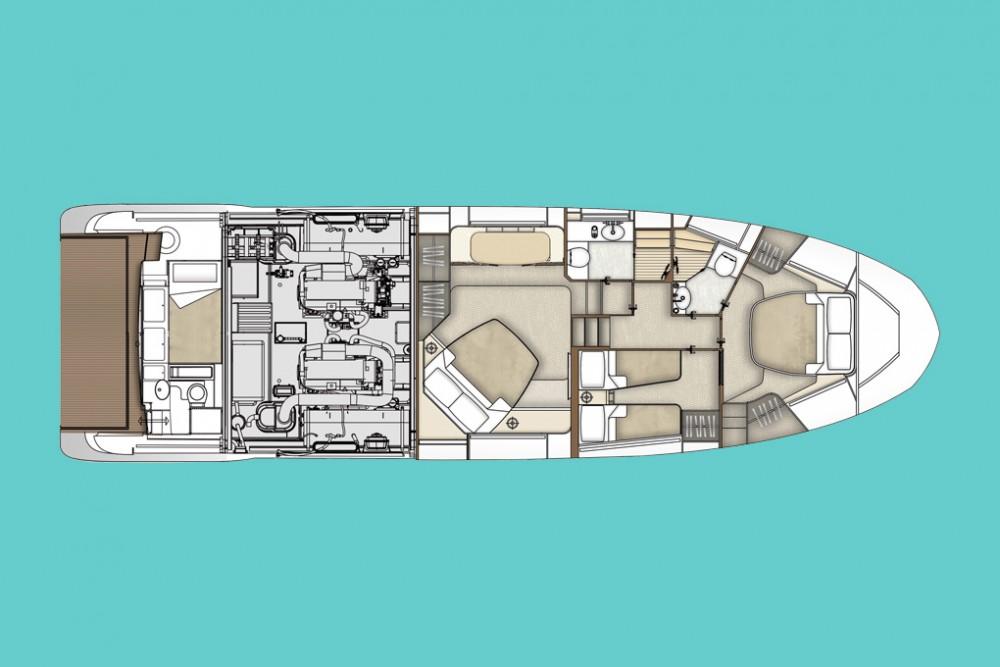 Rental Motor boat in Šibenik - Azimut Azimut 55
