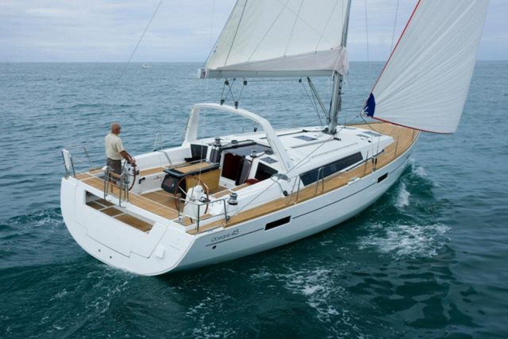 Boat rental Skiathos cheap Oceanis 45