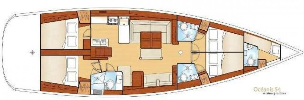 Boat rental Bénéteau Oceanis 54 in Corfu on Samboat