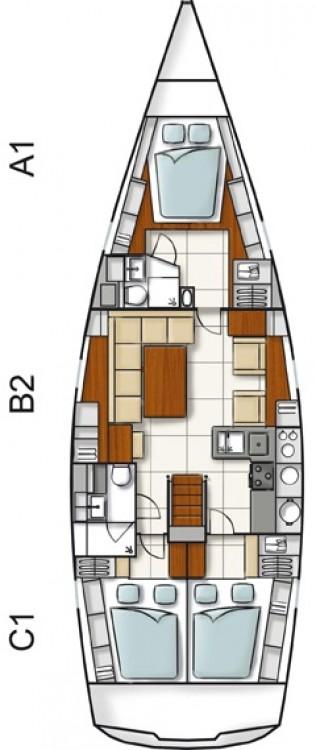 Boat rental Hanse Hanse 470 in Vólos on Samboat