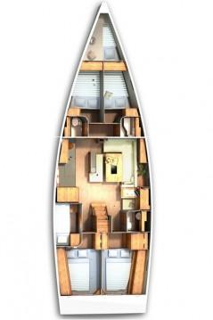 Boat rental  cheap Hanse 505 - 5 + 1 cab.