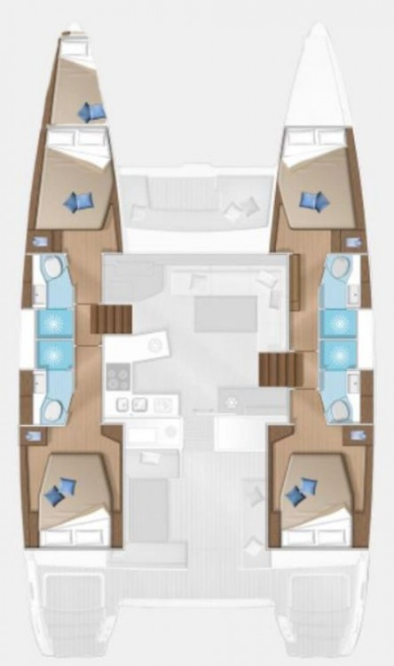 Rent a Lagoon Lagoon 450 F - 4 + 1 cab.