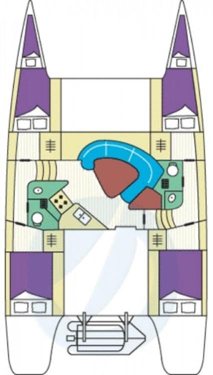 Rental yacht  - Fountaine Pajot Lavezzi 40 on SamBoat
