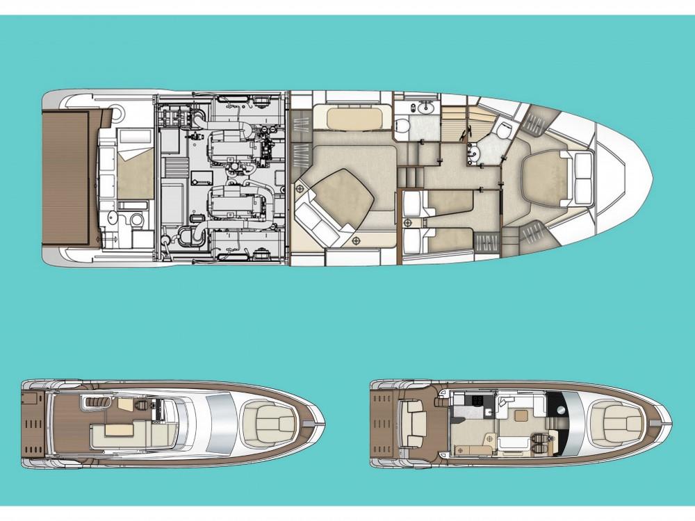 Boat rental Šibenik cheap Azimut 55