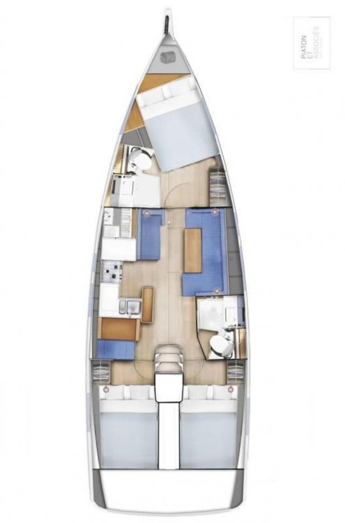 Rental yacht  - Jeanneau Sun Odyssey 410 - 3 cab. on SamBoat