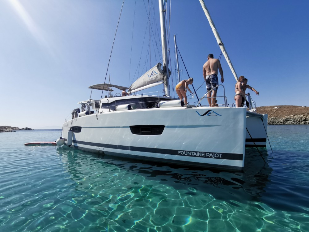 Fountaine Pajot Lucia 40 between personal and professional Mykonos
