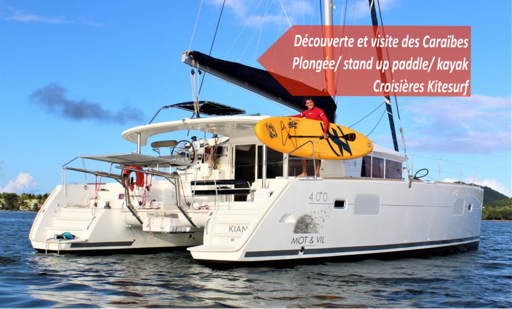 Boat rental Le Gosier cheap Lagoon 400