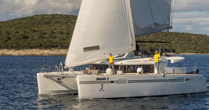 Rental yacht Rogoznica - Lagoon Lagoon 450 F (2016) equipped with generator, A/C (saloon+cabins), ice maker on SamBoat