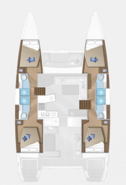 Rental yacht Slano - Lagoon Lagoon 450 F (2018) equipped with generator, A/C (saloon+cabins), 2 S.U.P. on SamBoat