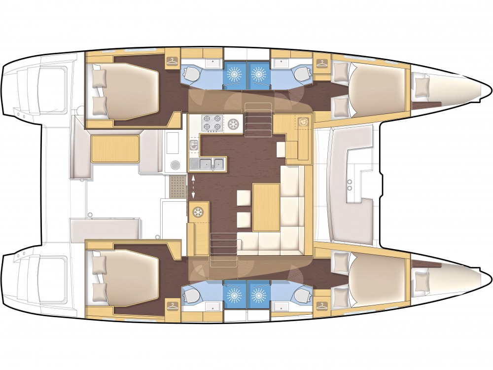 Rental Catamaran in Sibenik - Lagoon Lagoon 450