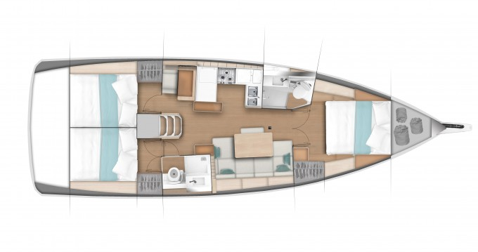 Jeanneau Sun Odyssey 440 between personal and professional Veruda