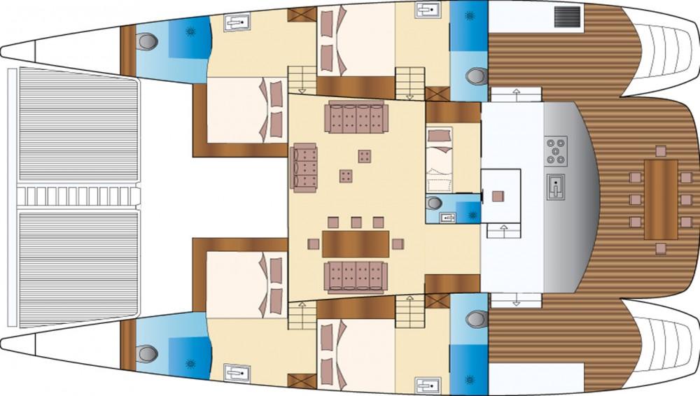 Rental Catamaran in Kontokali -  Caribe 69