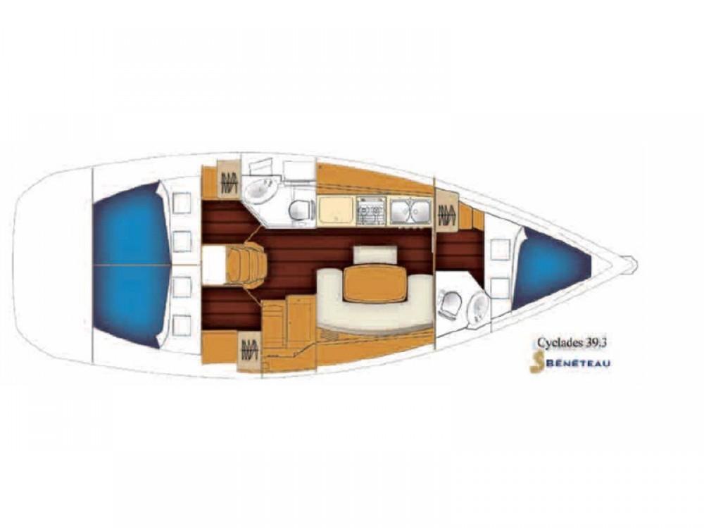 Rental yacht Nea Moudania - Bénéteau Cyclades 39.3 on SamBoat