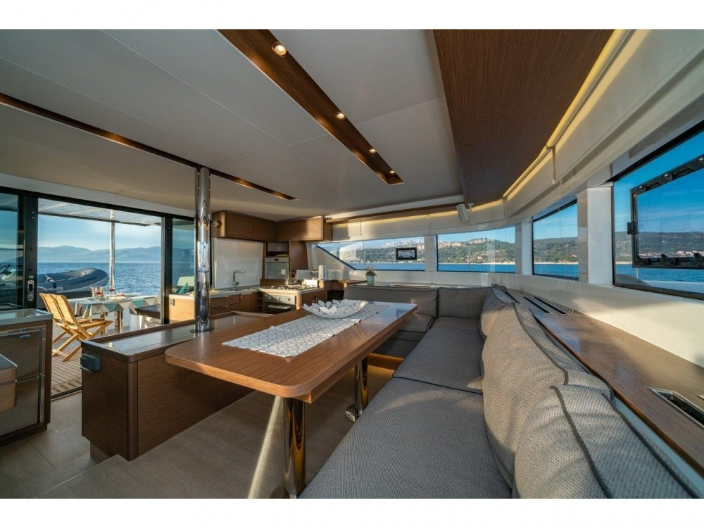 Rental yacht Split - Lagoon Lagoon 50 (2018)equipped with airconditioning (saloon + cabins), generator, watermaker, ice maker, dishwasher, washer/dryer, 2 SUP on SamBoat