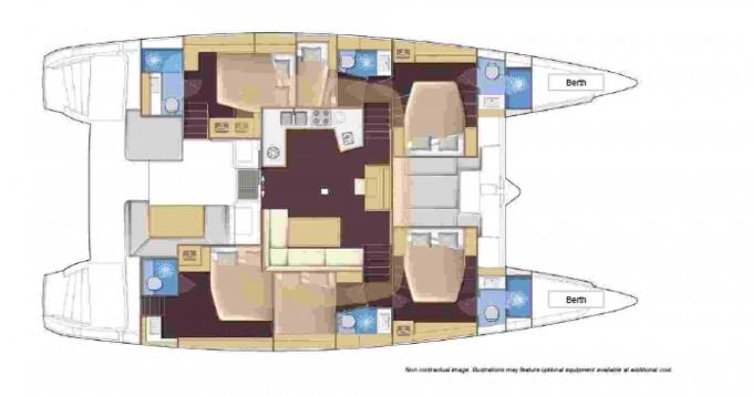 Rental Catamaran in Ibiza Town - Lagoon Lagoon 52 F