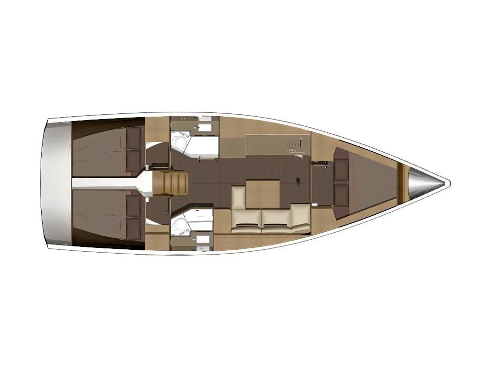 Rental yacht  - Dufour Dufour 382 Grand Large Shira 2018 on SamBoat