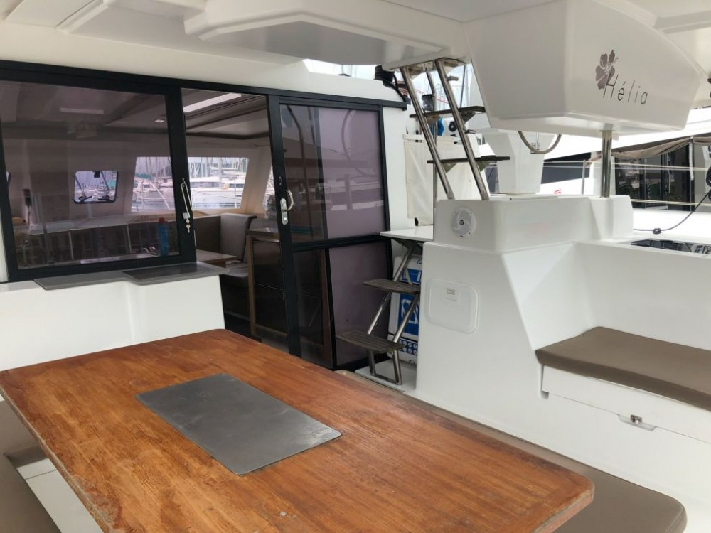 Fountaine Pajot Helia 44 between personal and professional Rodney Bay Marina