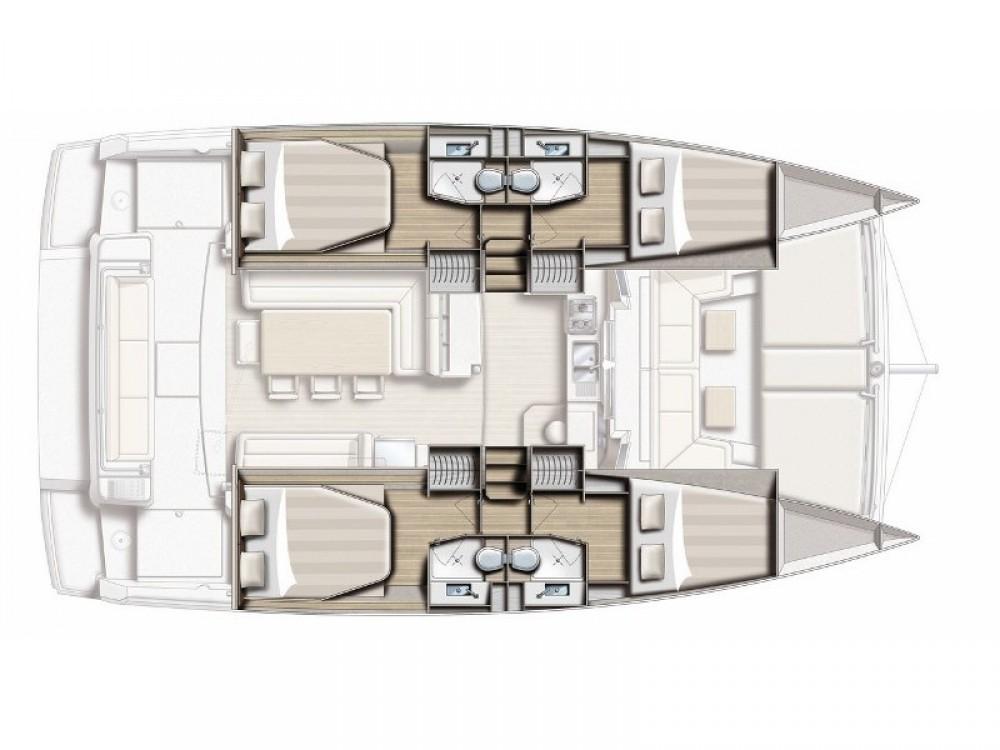 Catamaran for rent Kontokali at the best price