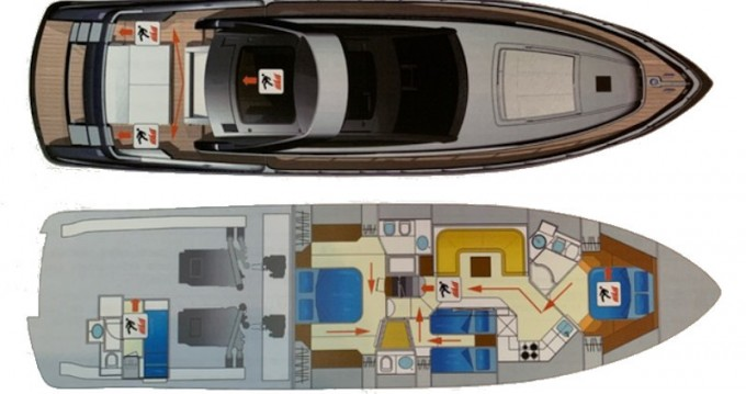 Rental Yacht Riva with a permit