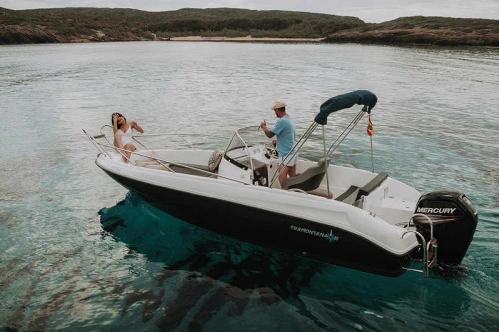 Hire Motorboat with or without skipper Tramontana Maó