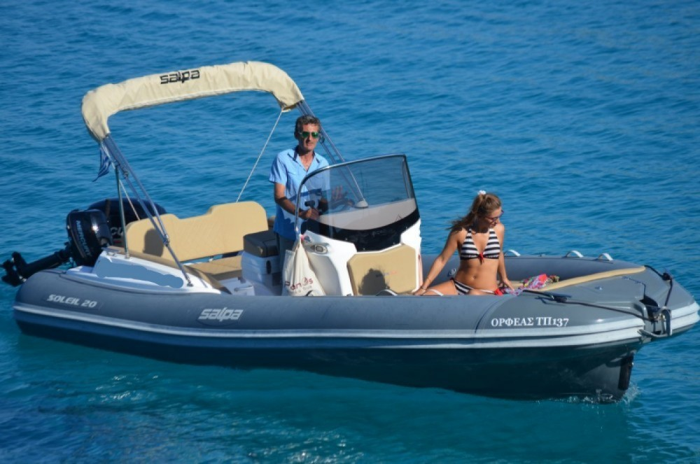 Hire RIB with or without skipper Salpa Gaios
