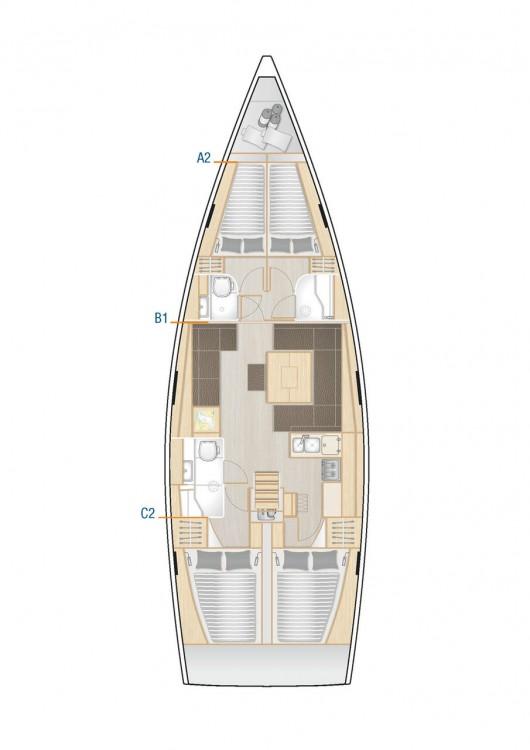 Boat rental Hanse Hanse 458 in Muğla on Samboat