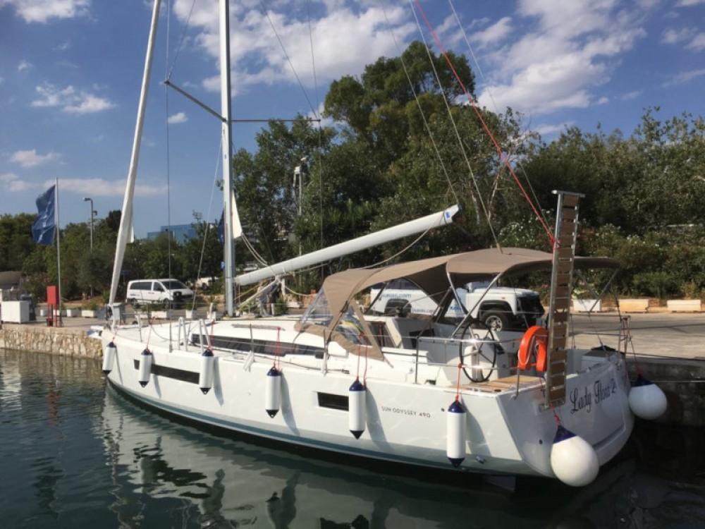 Boat rental Lefkada cheap Sun Odyssey 490
