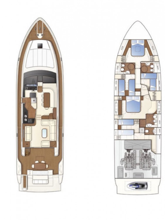Hire Motorboat with or without skipper Ferretti-Yachts-Group Grad Rijeka