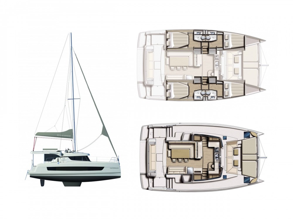 Hire Catamaran with or without skipper Bali Laurium