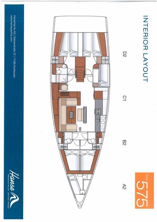 Boat rental Palma cheap Hanse 575