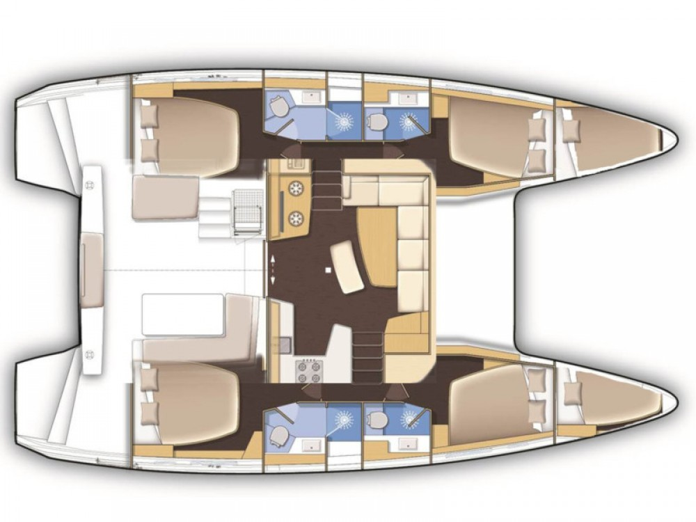 Rental yacht  - Lagoon Lagoon 42 (4+2 cab) on SamBoat