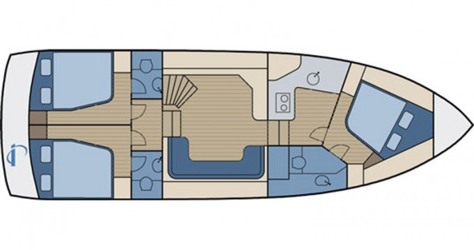 Boat rental Kröslin cheap Aqua Yacht 1200