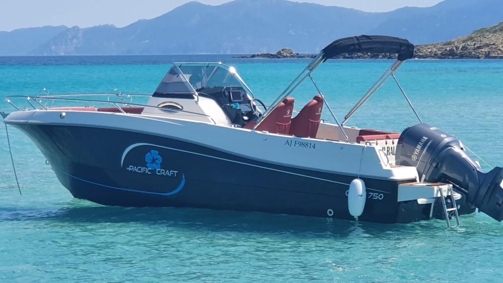 Boat rental Saint-Florent cheap Pacific Craft 750 Open