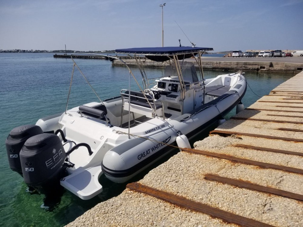 Great White 10M Faethon 900 between personal and professional Aegean