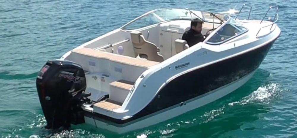 Quicksilver Activ 595 Cruiser between personal and professional Antibes