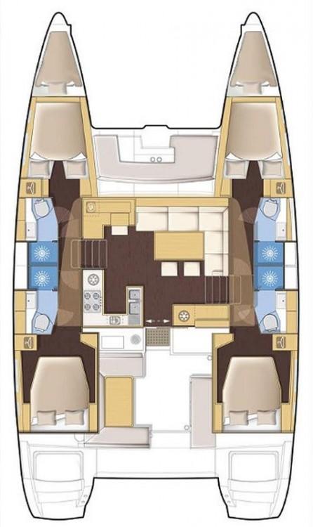 Rental Catamaran in Portocolom - Lagoon Lagoon 450 F - 4 + 2 cab.