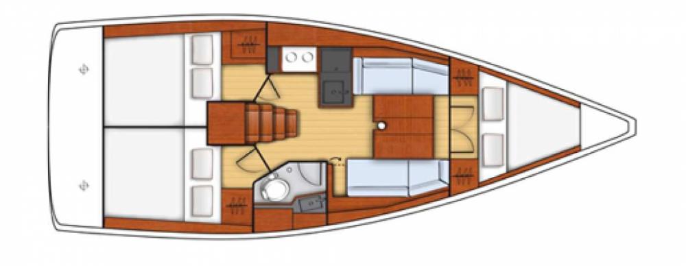Boat rental Hyères cheap Oceanis 35.1