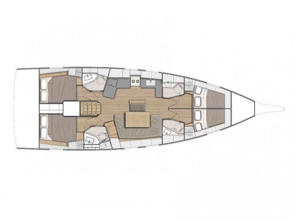 Boat rental Marina d'Arechi cheap Oceanis 46.1 (4 cab)